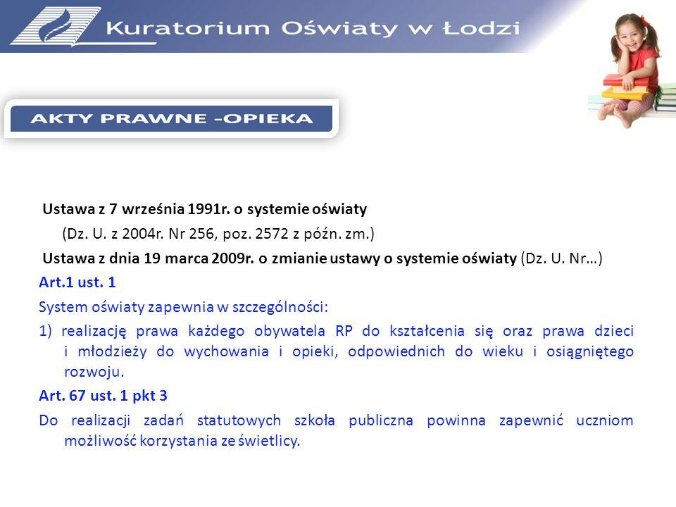 Ustawa z 7 września 1991r. o systemie oświaty