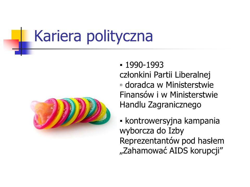 Kariera polityczna ▪ 1990-1993 członkini Partii Liberalnej