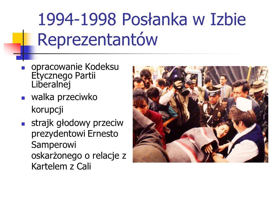 1994-1998 Posłanka w Izbie Reprezentantów