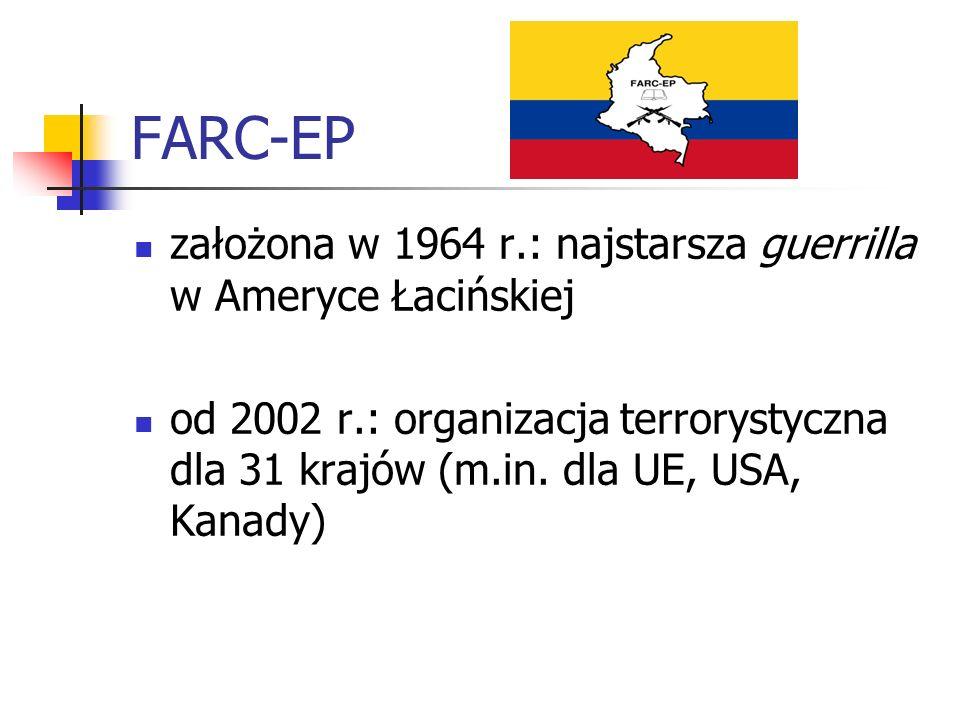 FARC-EP założona w 1964 r.: najstarsza guerrilla w Ameryce Łacińskiej