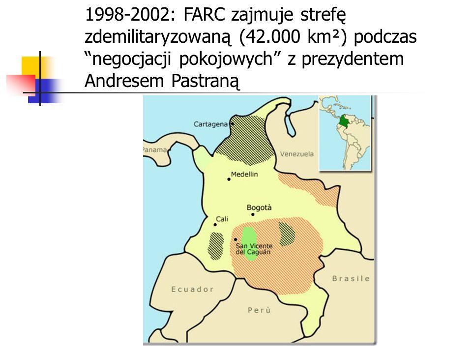 1998-2002: FARC zajmuje strefę zdemilitaryzowaną (42