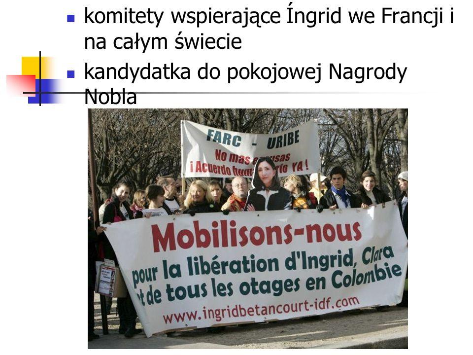 komitety wspierające Íngrid we Francji i na całym świecie