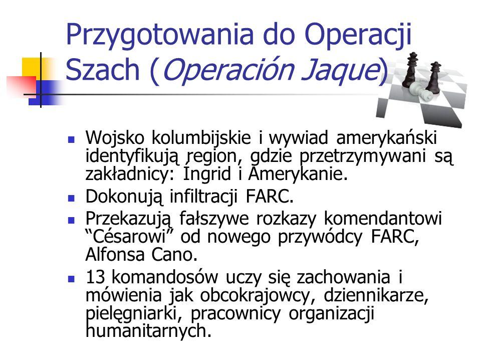 Przygotowania do Operacji Szach (Operación Jaque)