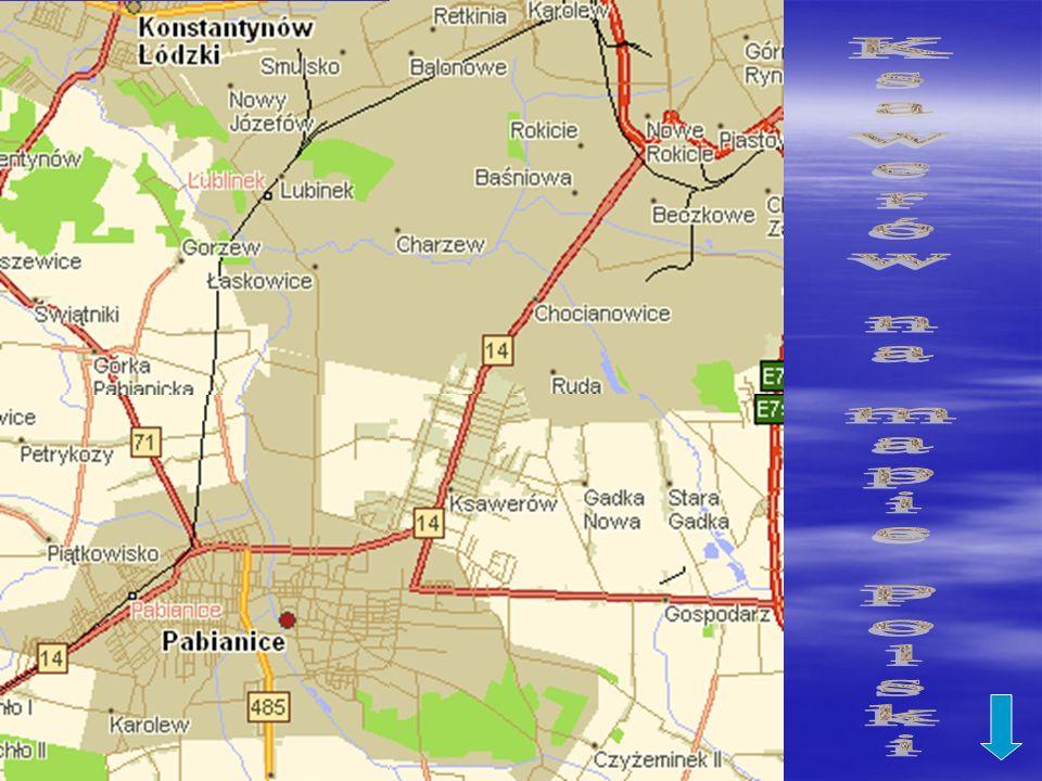 Ksawerów na mapie Polski