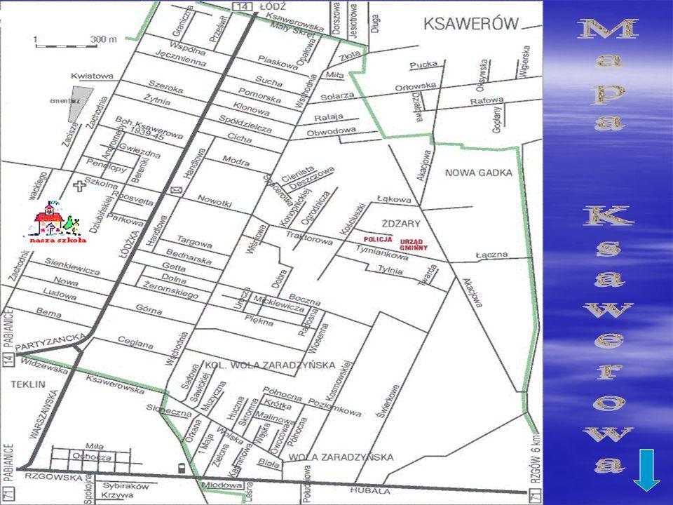 Mapa Ksawerowa