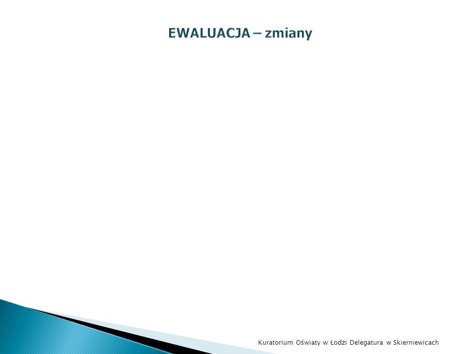 EWALUACJA – zmiany Kuratorium Oświaty w Łodzi Delegatura w Skierniewicach