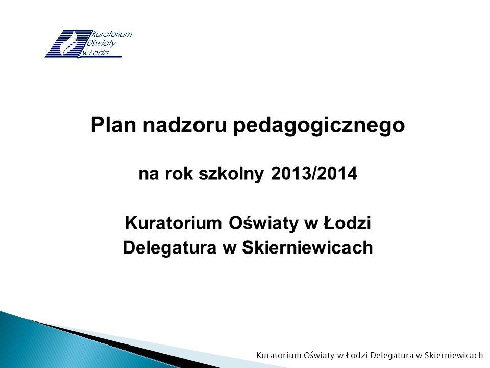 Plan nadzoru pedagogicznego Kuratorium Oświaty w Łodzi
