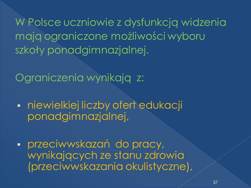 W Polsce uczniowie z dysfunkcją widzenia