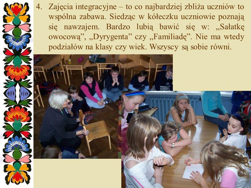 Zajęcia integracyjne – to co najbardziej zbliża uczniów to wspólna zabawa.