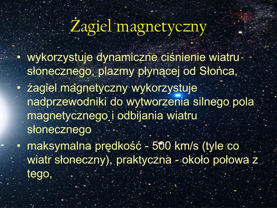 Żagiel magnetyczny wykorzystuje dynamiczne ciśnienie wiatru słonecznego, plazmy płynącej od Słońca,