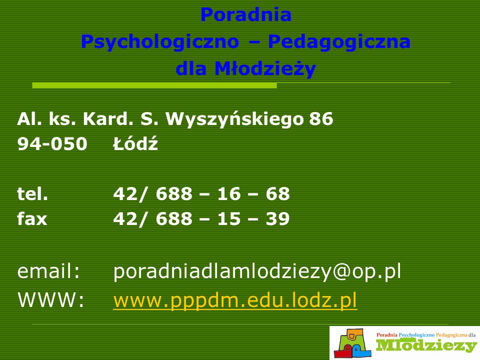Psychologiczno – Pedagogiczna