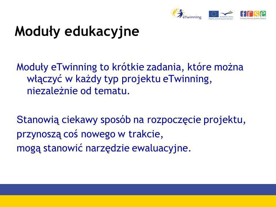 Moduły edukacyjneModuły eTwinning to krótkie zadania, które można włączyć w każdy typ projektu eTwinning, niezależnie od tematu.