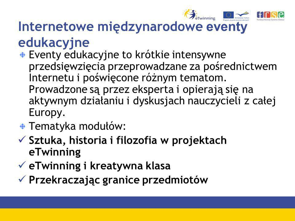 Internetowe międzynarodowe eventy edukacyjne