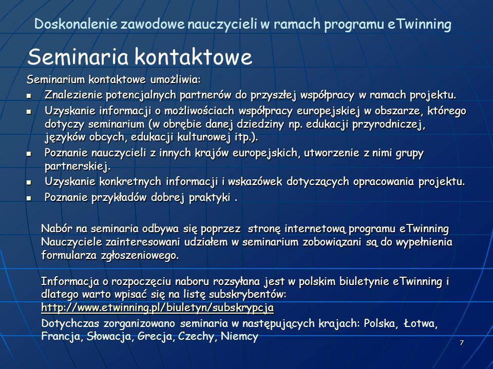 Doskonalenie zawodowe nauczycieli w ramach programu eTwinning