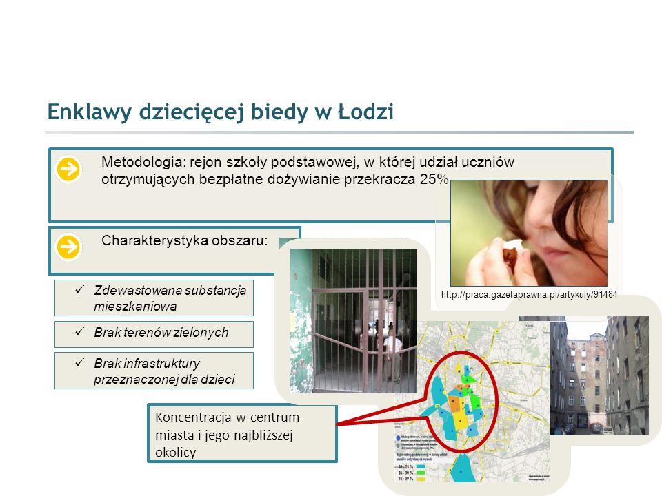 Enklawy dziecięcej biedy w Łodzi