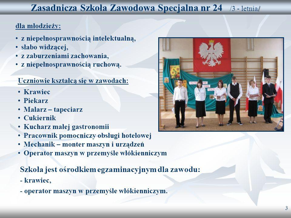 Zasadnicza Szkoła Zawodowa Specjalna nr 24 /3 - letnia/
