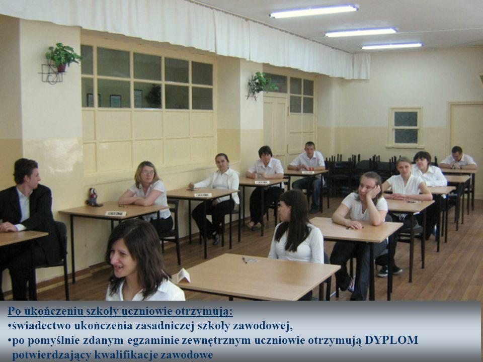 Po ukończeniu szkoły uczniowie otrzymują: