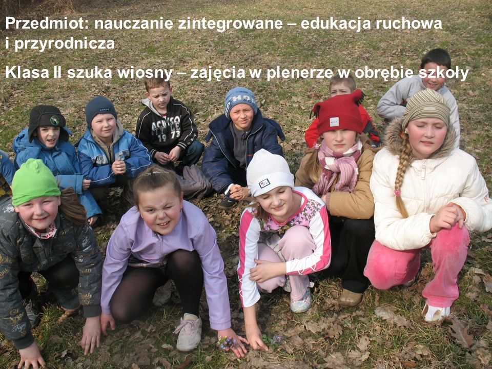 Przedmiot: nauczanie zintegrowane – edukacja ruchowa i przyrodnicza