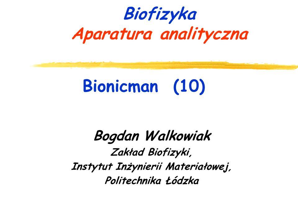 Biofizyka Aparatura analityczna