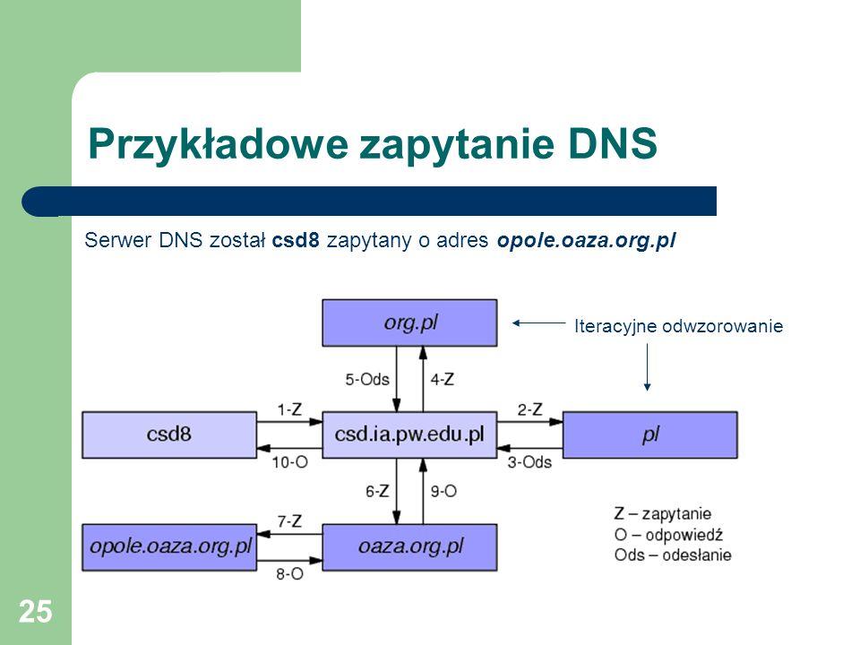 Przykładowe zapytanie DNS