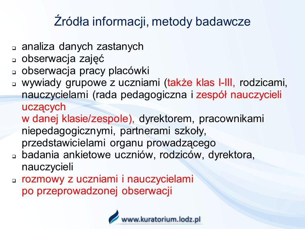 Źródła informacji, metody badawcze