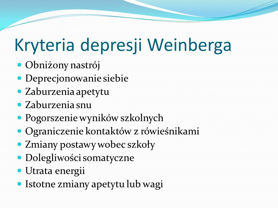 Kryteria depresji Weinberga