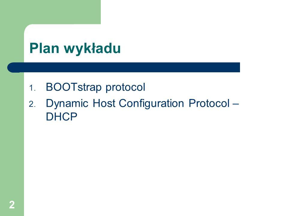 Plan wykładu BOOTstrap protocol