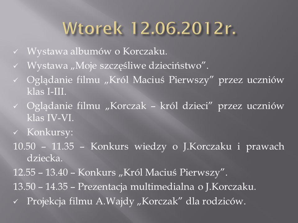 Wtorek 12.06.2012r. Wystawa albumów o Korczaku.