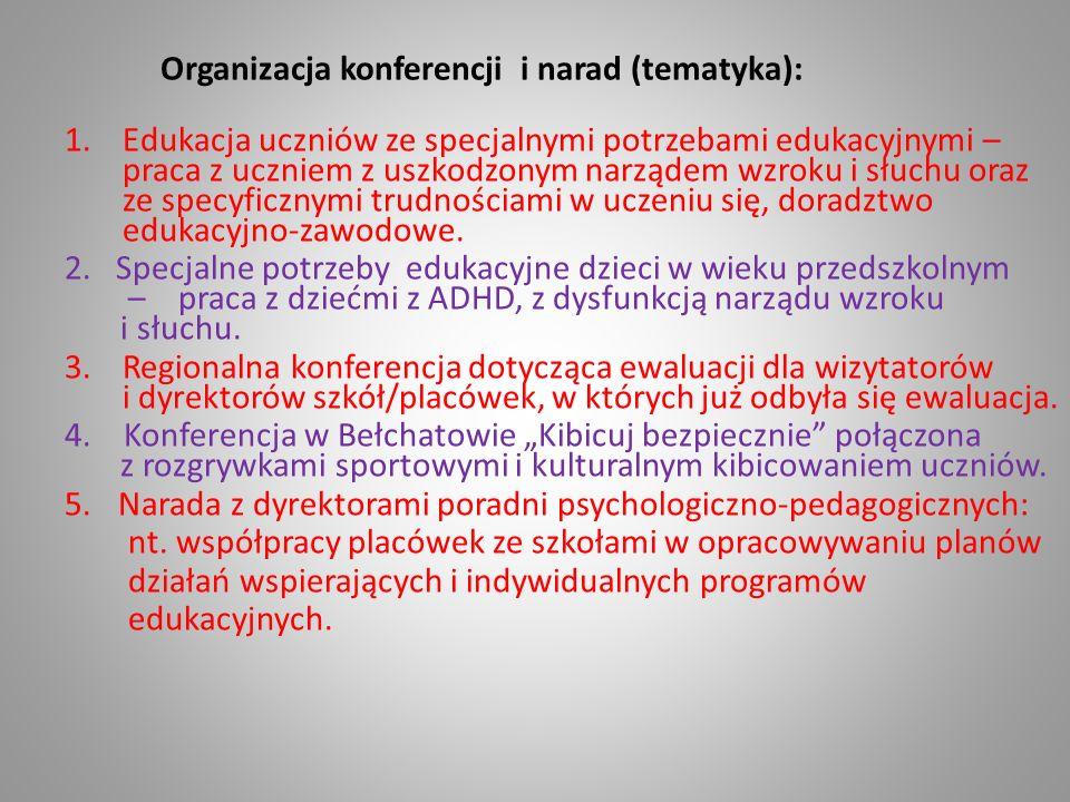 Organizacja konferencji i narad (tematyka):