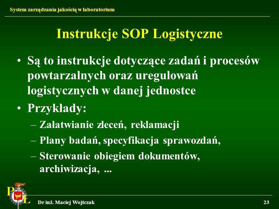 Instrukcje SOP Logistyczne