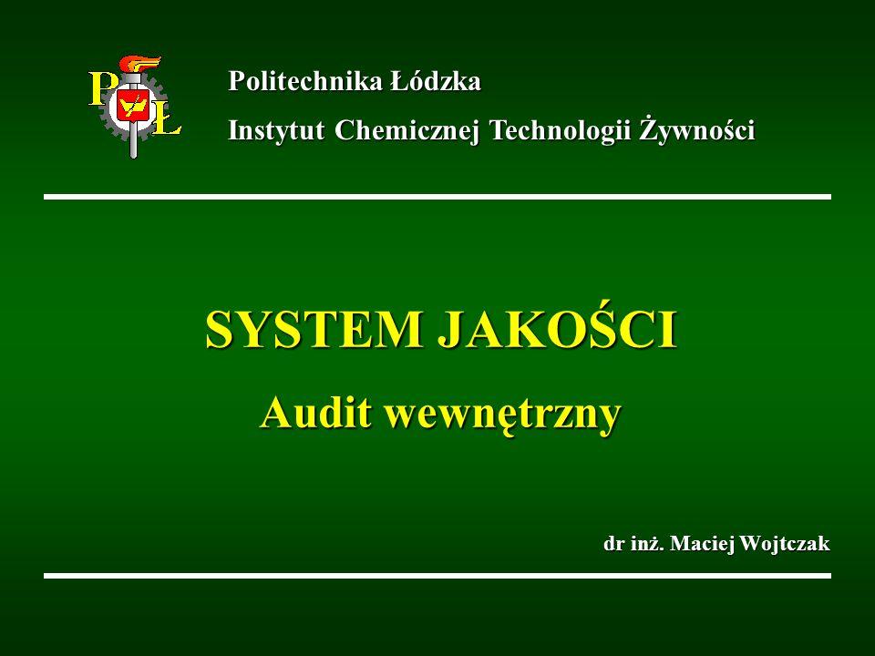 SYSTEM JAKOŚCI Audit wewnętrzny