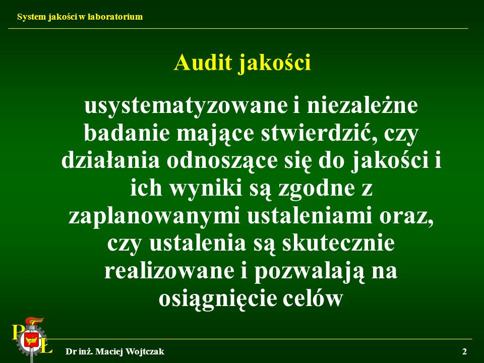 Audit jakości