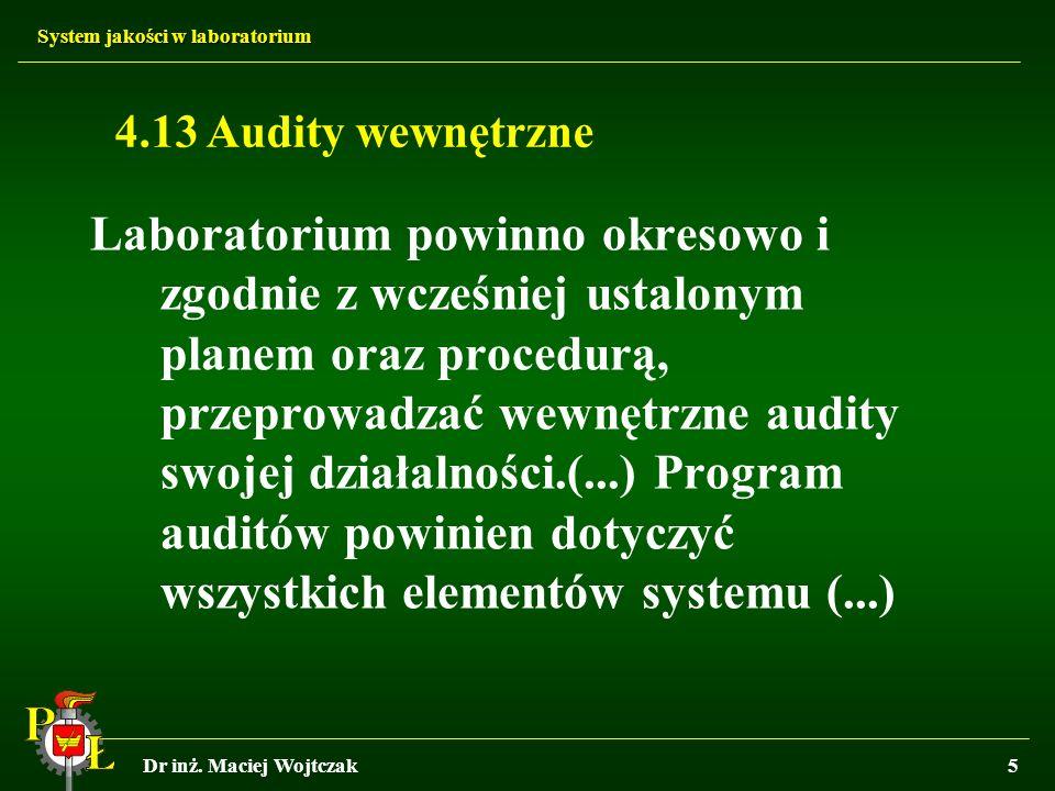4.13 Audity wewnętrzne