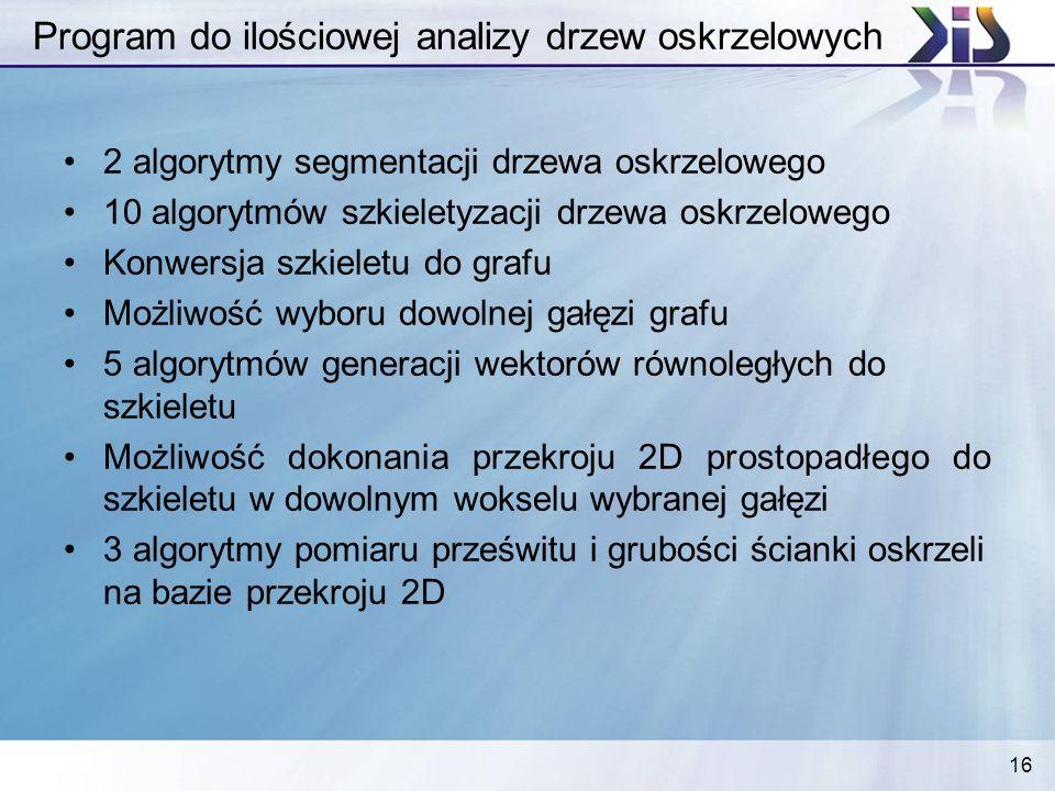 Program do ilościowej analizy drzew oskrzelowych
