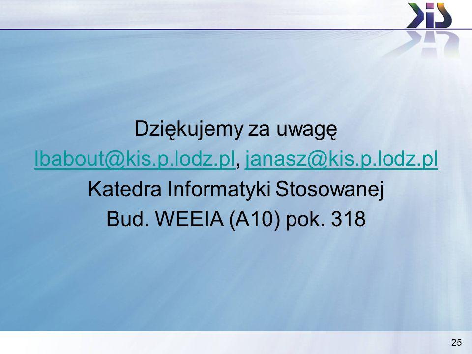 lbabout@kis.p.lodz.pl, janasz@kis.p.lodz.pl
