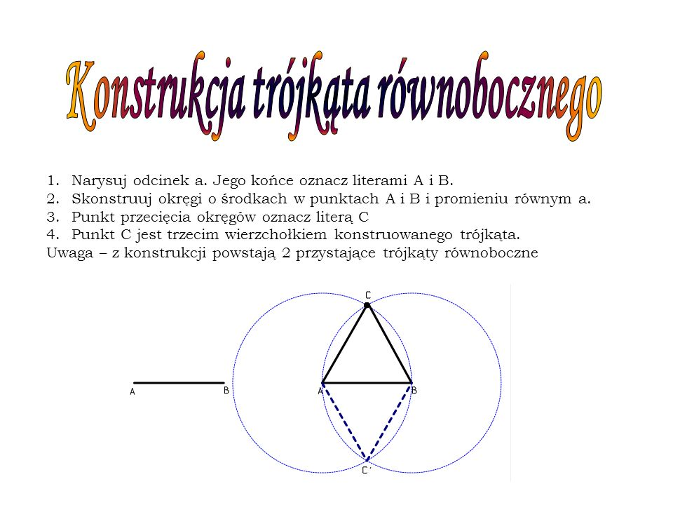 Konstrukcja trójkąta równobocznego