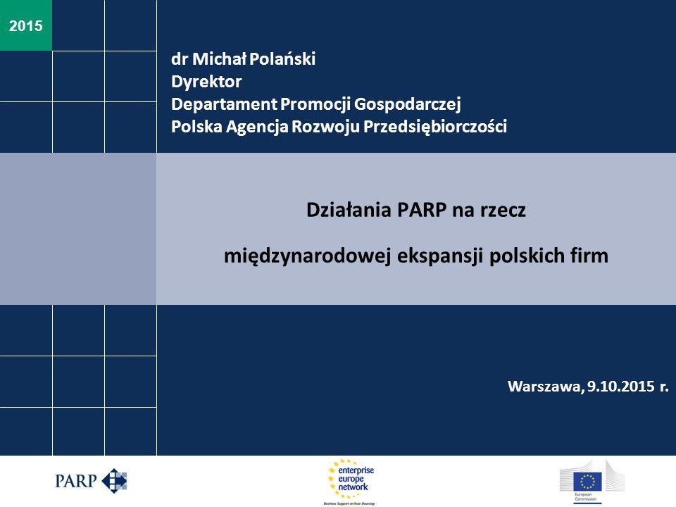 Działania PARP na rzecz międzynarodowej ekspansji polskich firm