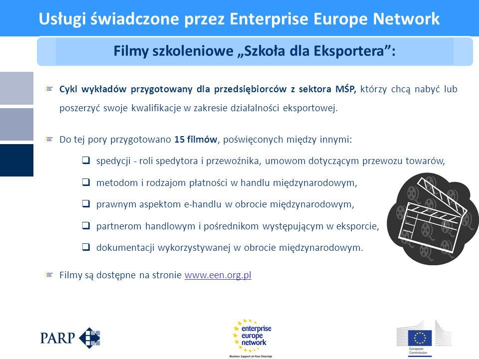 Usługi świadczone przez Enterprise Europe Network
