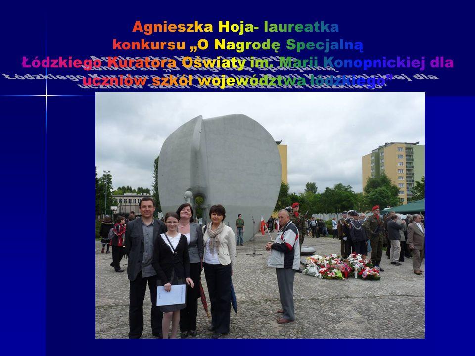 """Agnieszka Hoja- laureatka konkursu """"O Nagrodę Specjalną"""