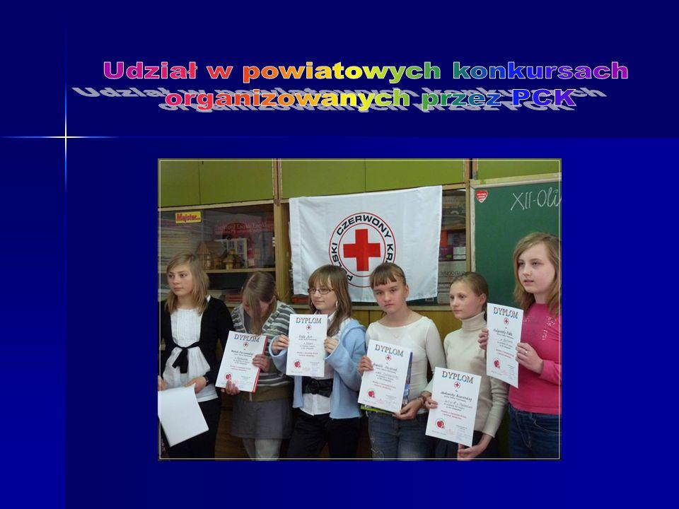 Udział w powiatowych konkursach organizowanych przez PCK
