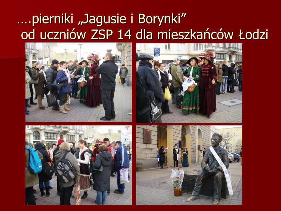 """….pierniki """"Jagusie i Borynki od uczniów ZSP 14 dla mieszkańców Łodzi"""