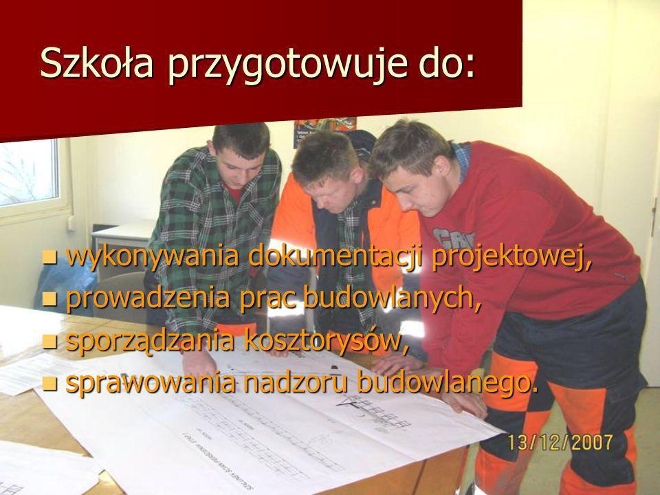 Szkoła przygotowuje do: