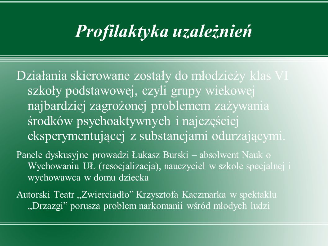 Profilaktyka uzależnień