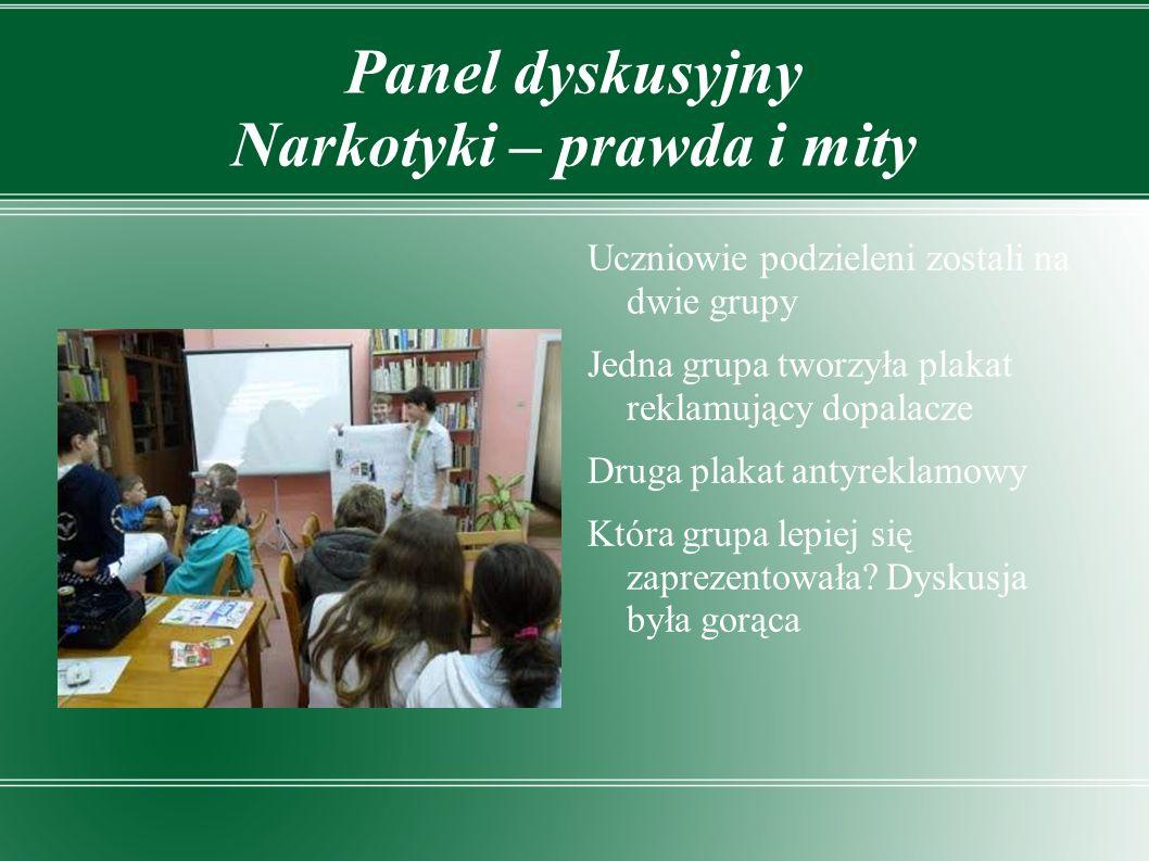 Panel dyskusyjny Narkotyki – prawda i mity