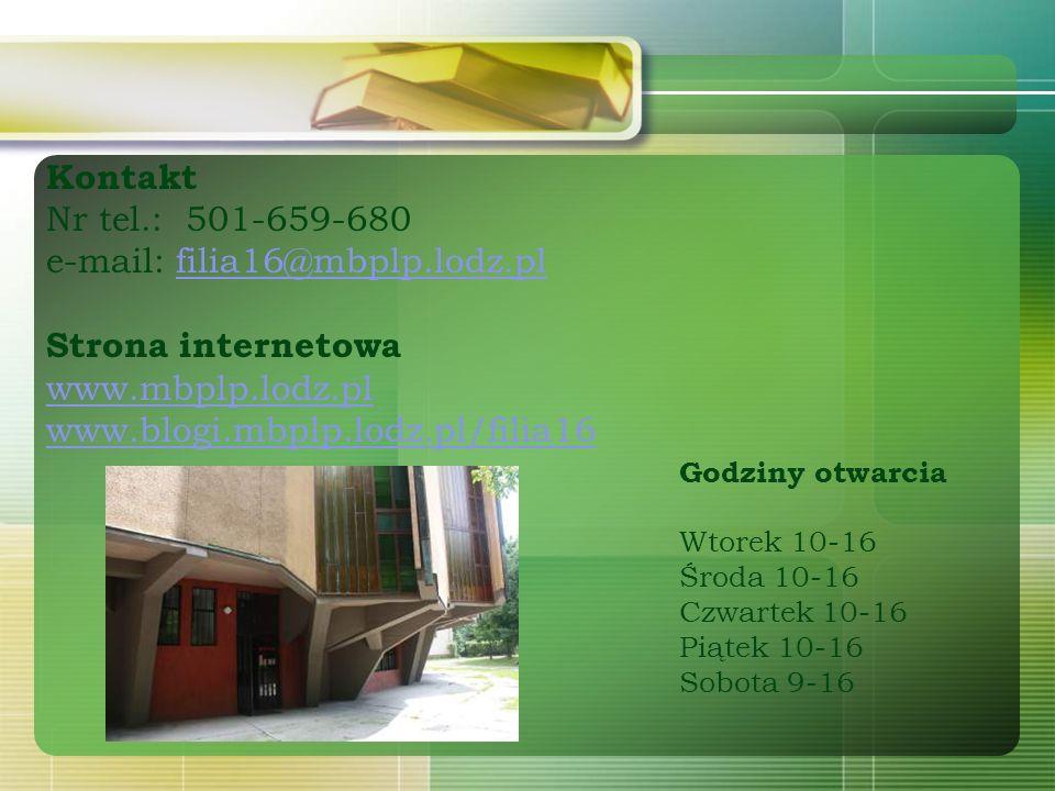 e-mail: filia16@mbplp.lodz.pl Strona internetowa