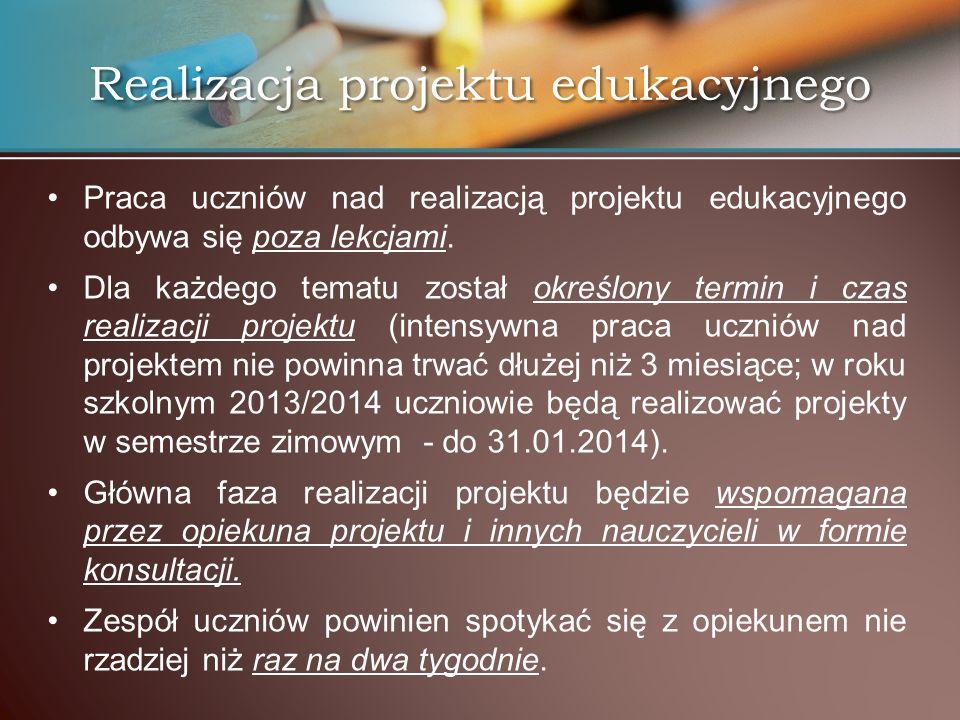 Realizacja projektu edukacyjnego
