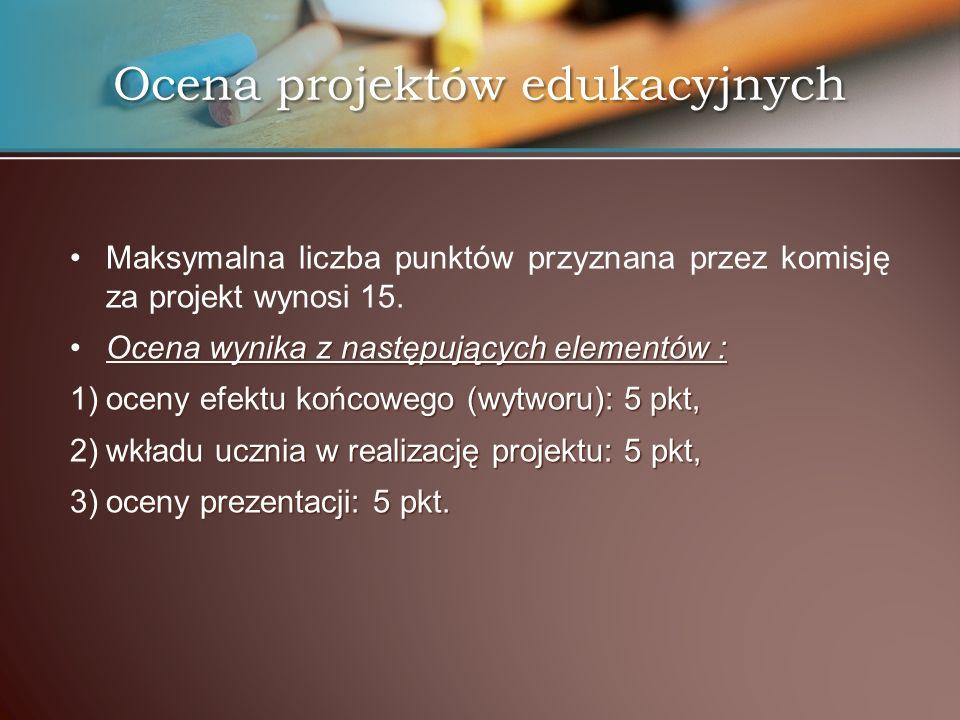 Ocena projektów edukacyjnych