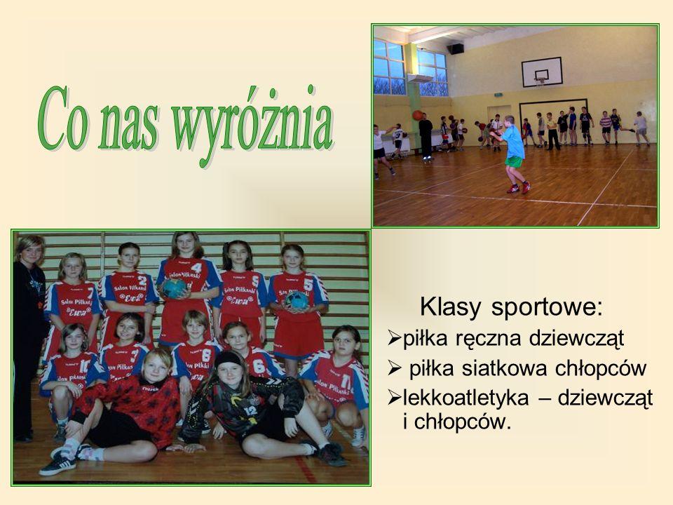 Co nas wyróżnia Klasy sportowe: piłka ręczna dziewcząt