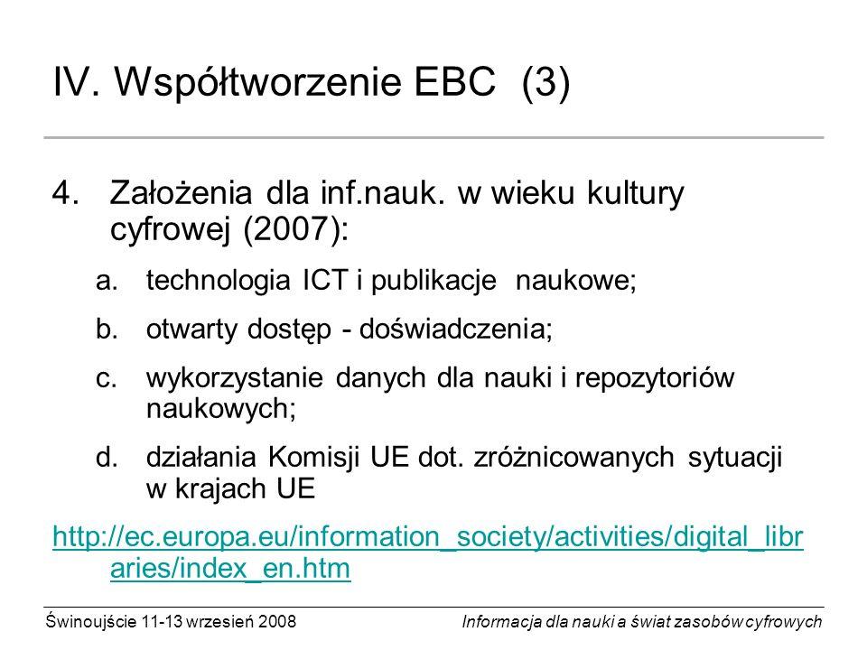 IV. Współtworzenie EBC (3)