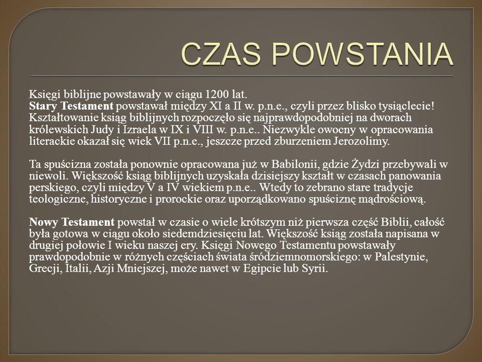 CZAS POWSTANIA